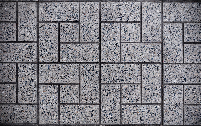 Gray Square Paved con las pequeñas esquinas cuadradas y Gray Rectangles Textura inconsútil de Tileable foto de archivo