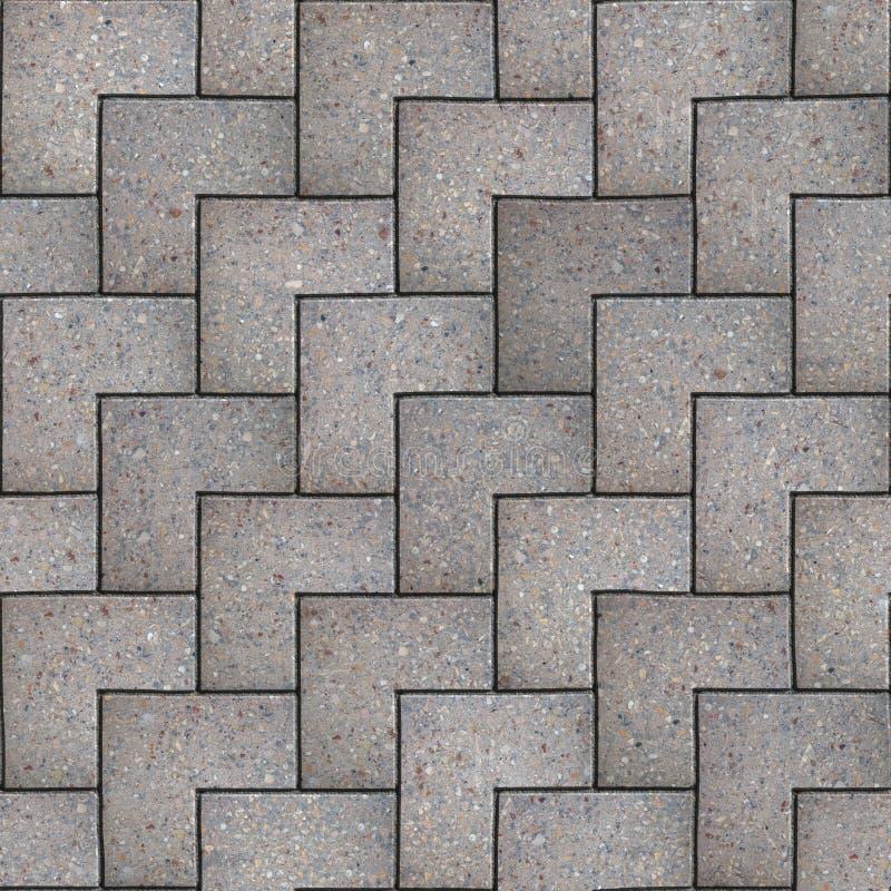 Gray Square Pavement. Texture sans couture de Tileable. illustration stock