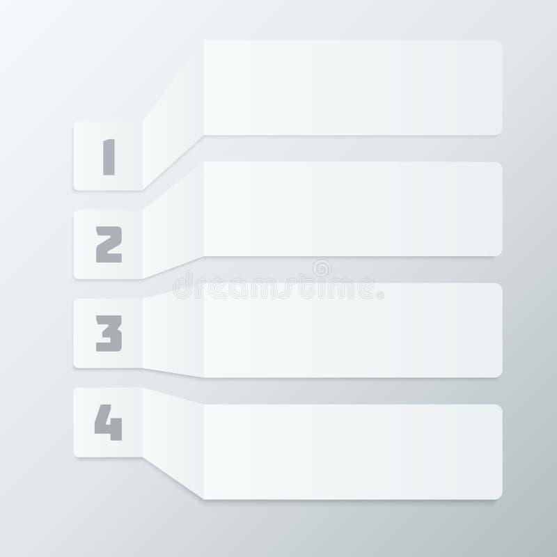Gray Steps Infographics Elements claro ilustração do vetor