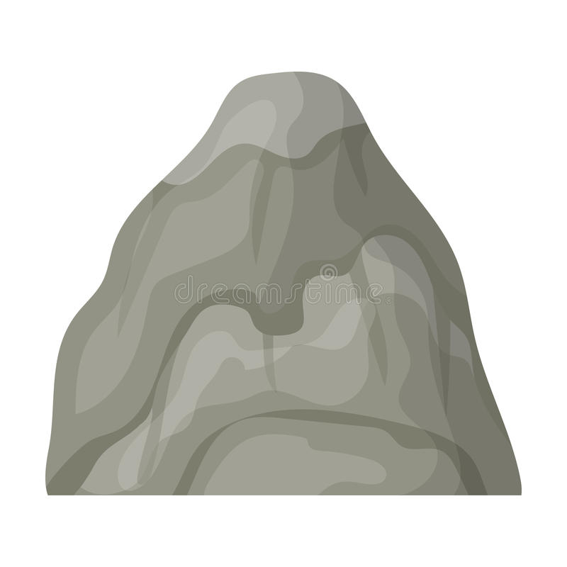Gray stone mountain. A mountain in which mined minerals.Different mountains single icon in cartoon style vector symbol. Stock web illustration royalty free illustration