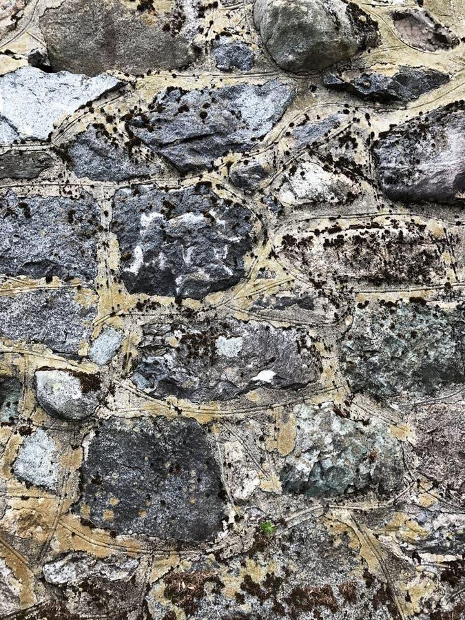 Gray Stone Wall Texture immagine stock