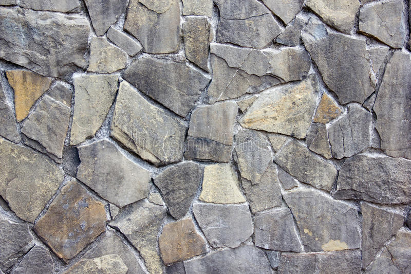 Gray stone walls royalty free stock photos