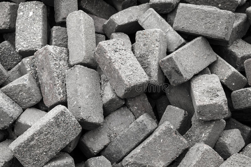 Gray stones for cobble road paving royalty free stock photography