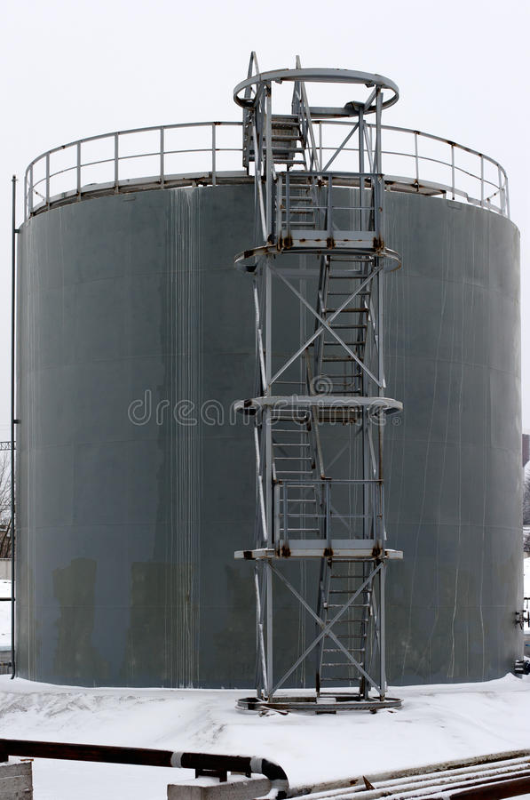 Download Gray Storage Tank With Stairs Stock Image - Image: 28895831