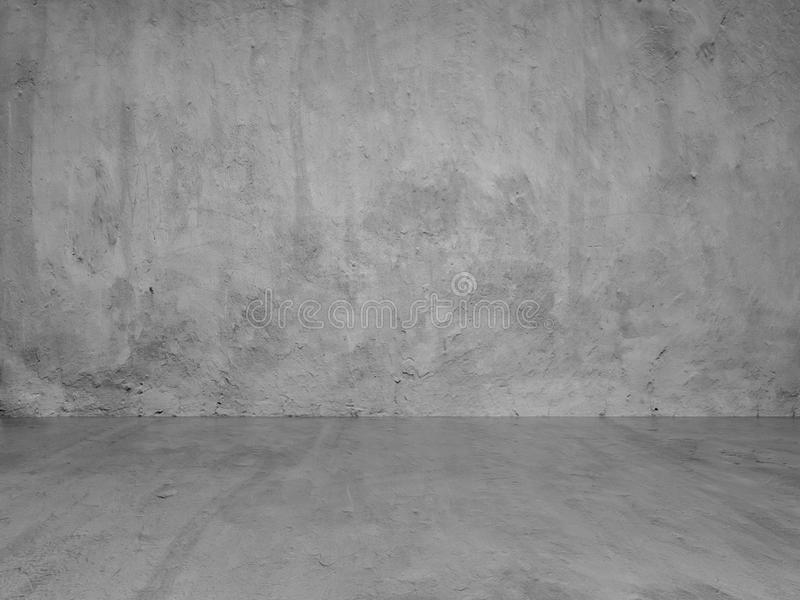 Gray Stucco Concrete Wall And Floor Copy Space Background