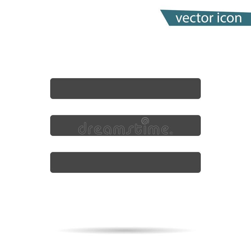 Gray Sub-menupictogram op achtergrond wordt geïsoleerd die Modern vlak pictogram, zaken, marketing, conc Internet vector illustratie
