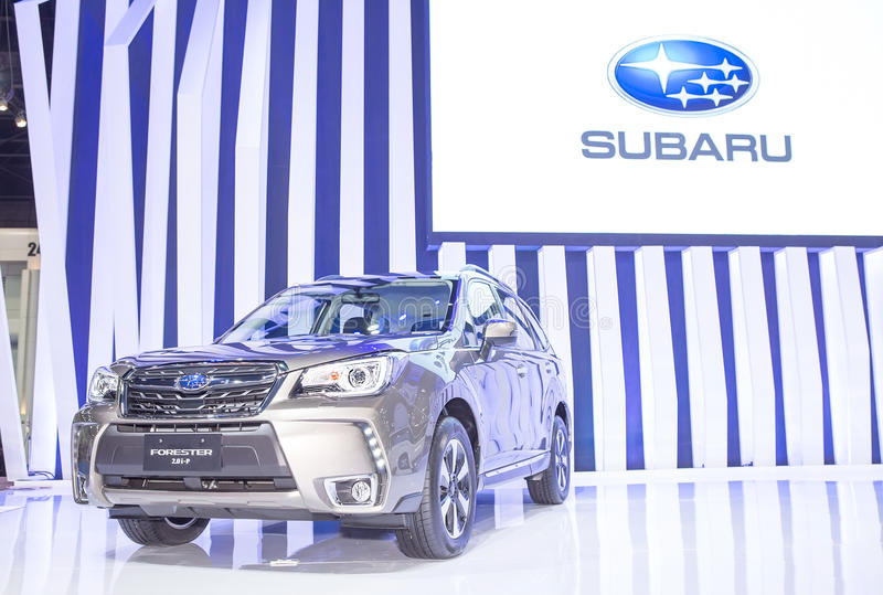 Gray Subaru series Forester. Bangkok - March 22 : gray Subaru series Forester - in display at The 37th Bangkok international Motor Show 2016 on March 22, 2016 in stock image