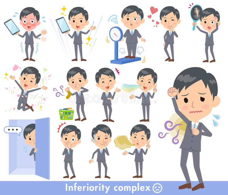 Gray Suit Businessman-_complex stock abbildung