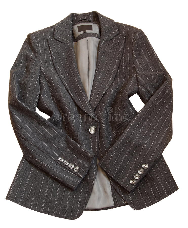 Gray suit jacket royalty free stock photo