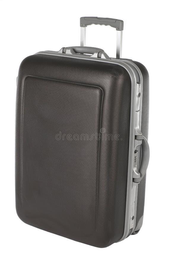 Gray Suitcase usado imagem de stock