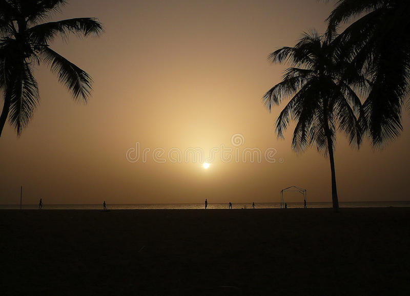 Gray sunset. royalty free stock image