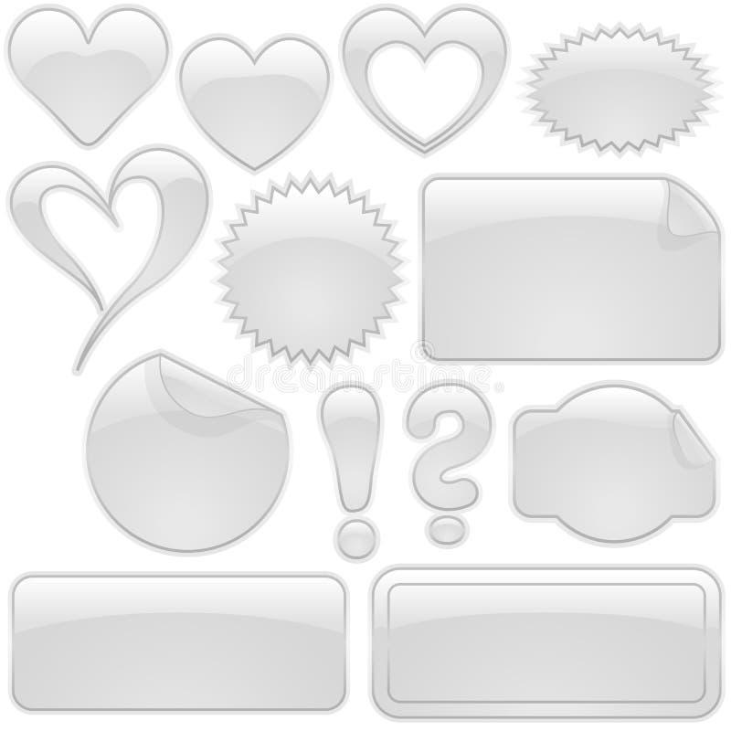 gray szklane kształty ilustracja wektor