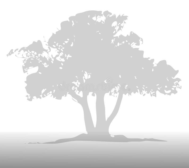 gray tła światła drzewo ilustracji