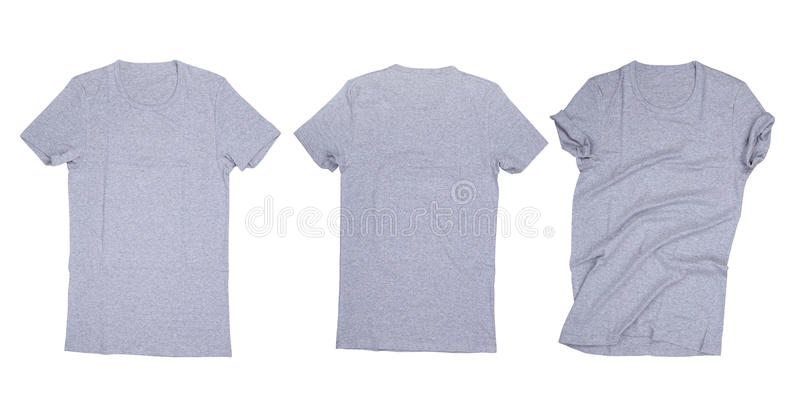 Gray t-shirt isolated royalty free stock image