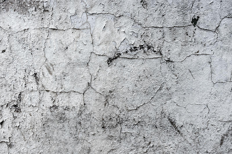 Gray texture old concrete wall. With cracks royalty free stock photos