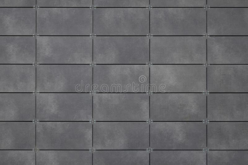 Gray tile ceramic, seamless texture square dark grey surface for 3d graphics or kitchen or bathroom design.  royalty free stock image