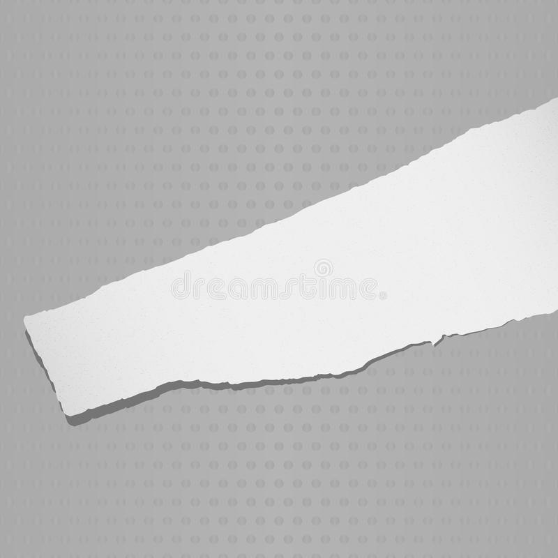 Gray torn grainy paper on gray background royalty free illustration