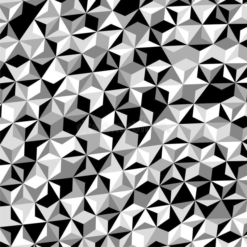 Gray Triangle Pattern Vetora branco preto ilustração royalty free