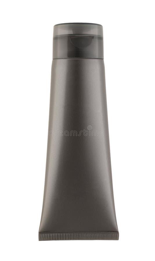 Gray tube on white background royalty free stock photography