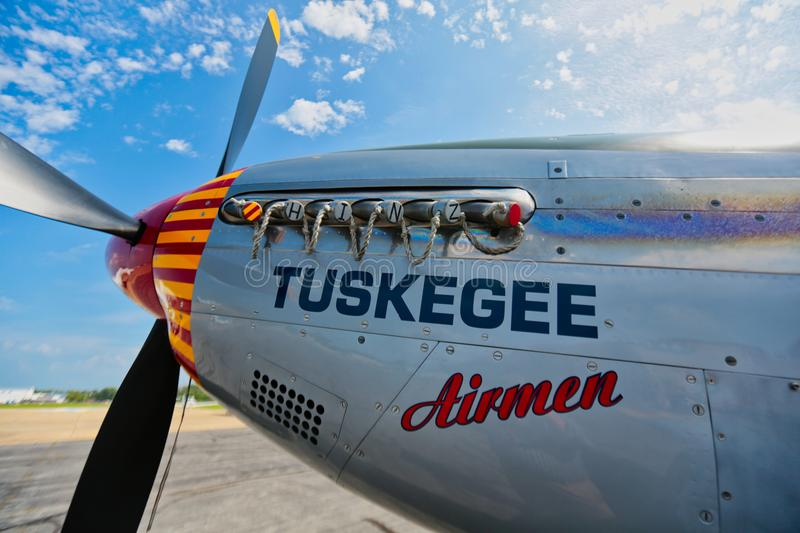 Gray Tuskegee Airmen Airplane Under Blue And White Cloudy Skies At Daytime Free Public Domain Cc