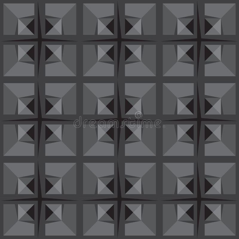 Gray universal vector seamless patterns, tiling. Geometric ornaments. stock images