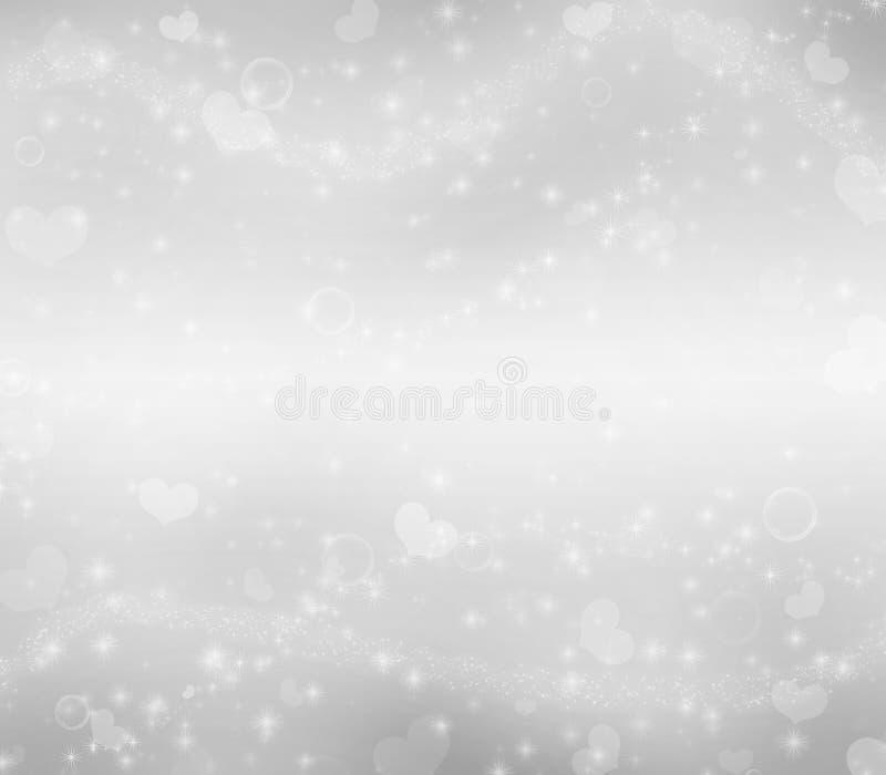 Gray Valentine-` s Tagesmagiehintergrund lizenzfreie abbildung