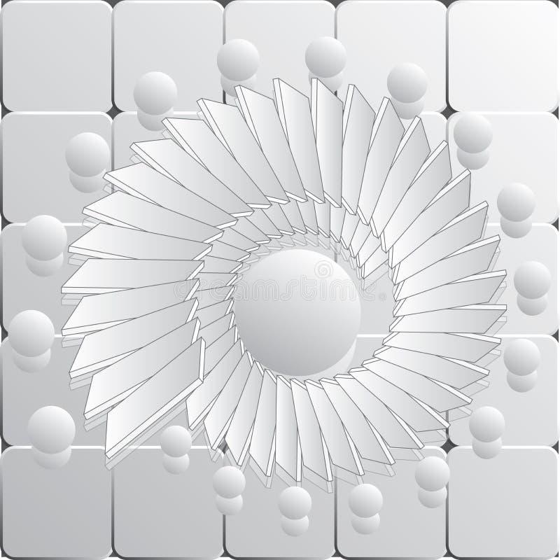 Gray Vector Spiral Pattern of Textuur royalty-vrije illustratie