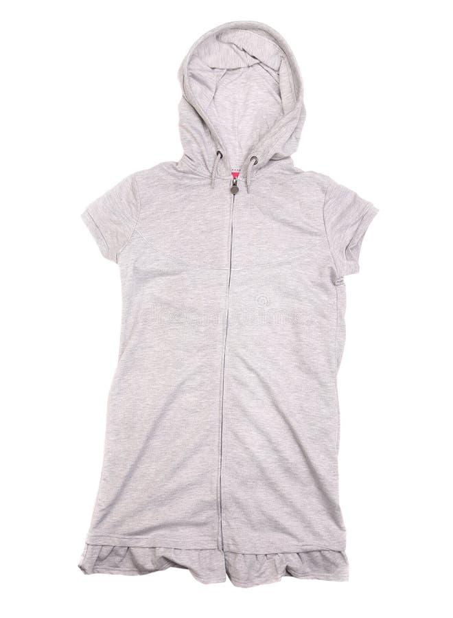 Download Gray vest with hood stock image. Image of waistcoat, poket - 35334835