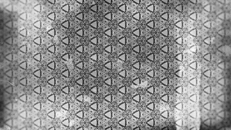Gray Vintage Floral Background Pattern oscuro stock de ilustración