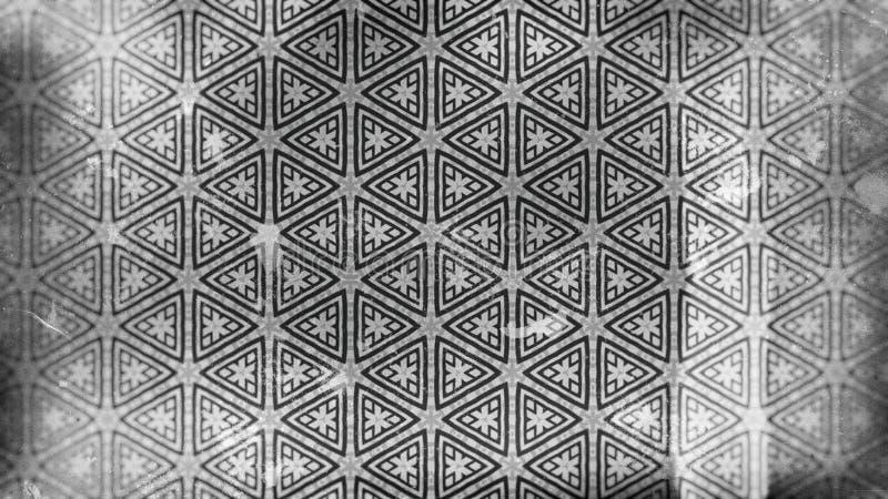 Gray Vintage Floral Pattern Wallpaper escuro ilustração royalty free