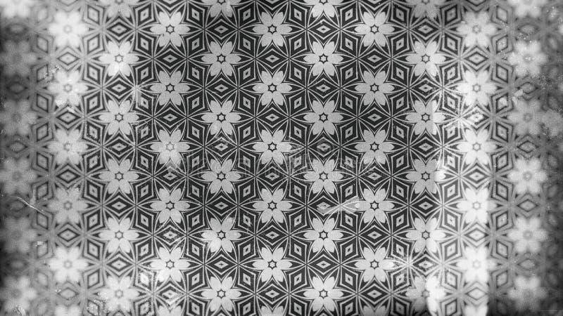 Gray Vintage Flower Background Pattern escuro ilustração do vetor