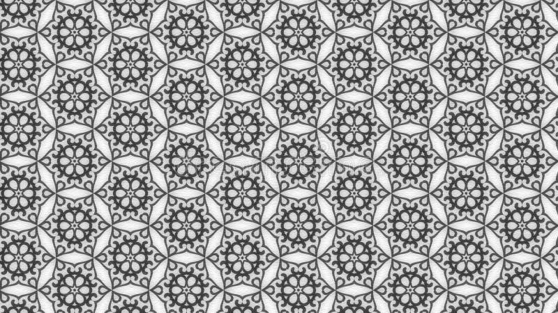 Gray Vintage Wallpaper Background lizenzfreie abbildung