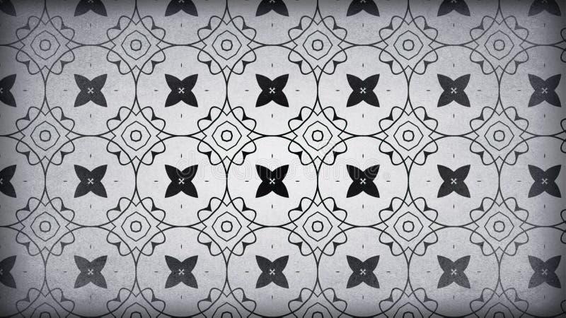 Gray Vintage Wallpaper Background scuro illustrazione di stock