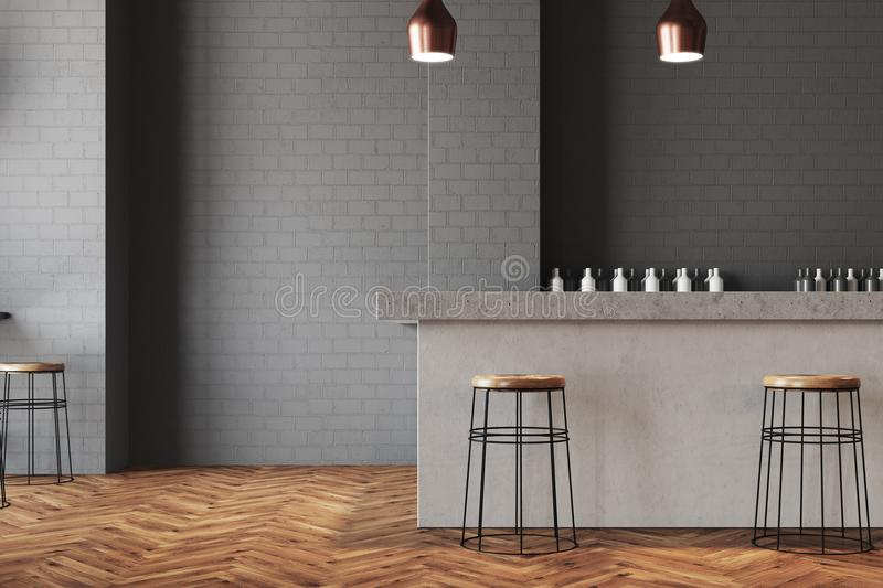 Download Gray Wall Bar And Cafe Interior Stock Illustration   Illustration  Of Counter, Architecture: