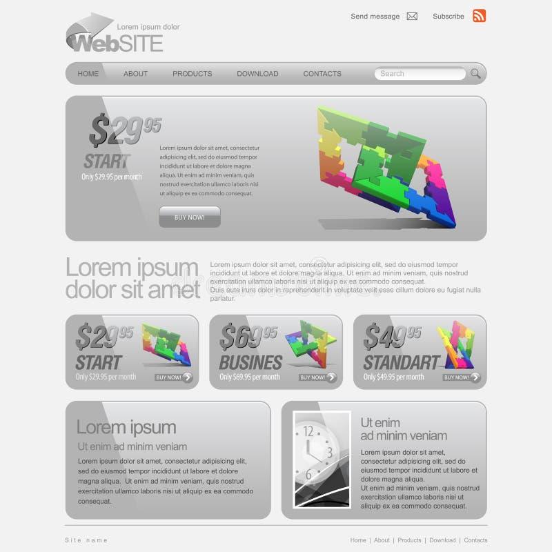 Download Gray Website Template 960 Grid. Stock Vector - Image: 24457202