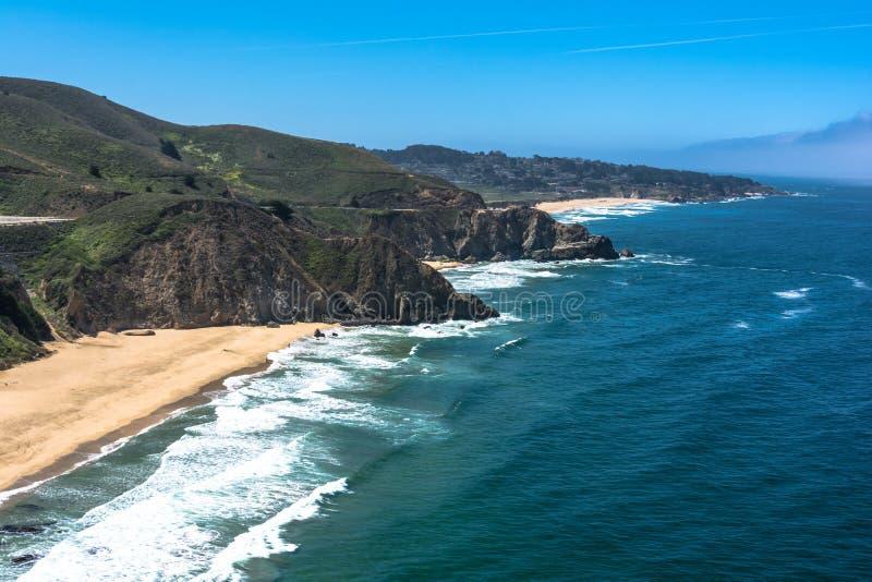 Gray Whale Cove State Beach Kalifornien royaltyfri fotografi
