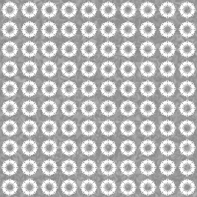 Gray and white burst circles abstract geometric seamless textured pattern background royalty free illustration