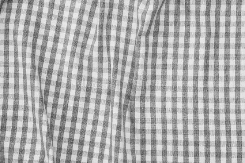 Gray and white checkered fabric background texture royalty free stock image