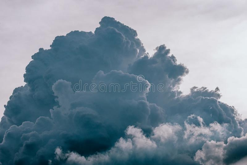 Gray and White Clouds royalty free stock photo