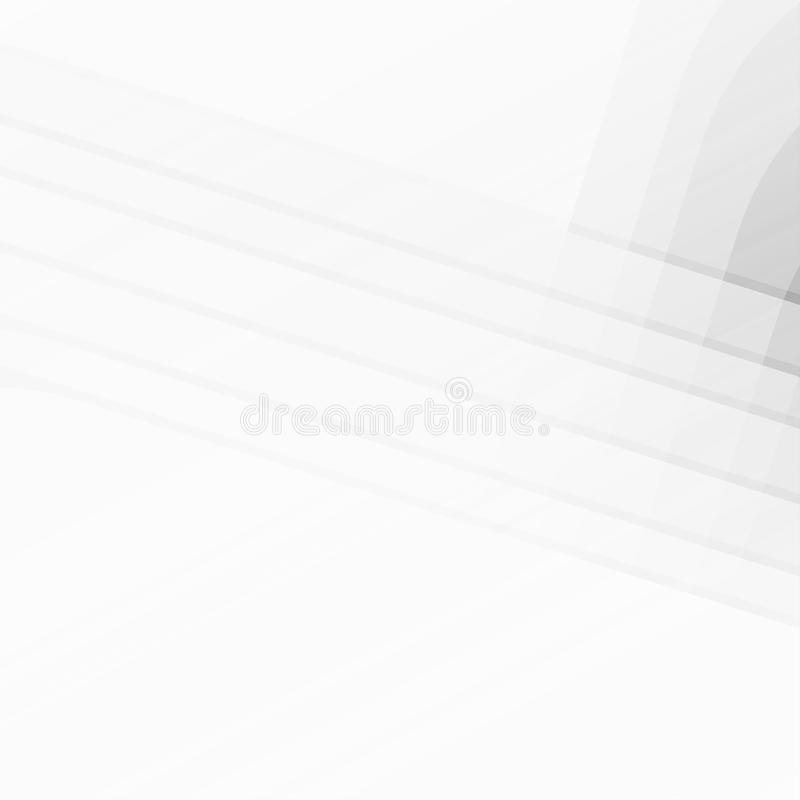 Gray and white color abstract geometric vector background with copy space.  stock illustration