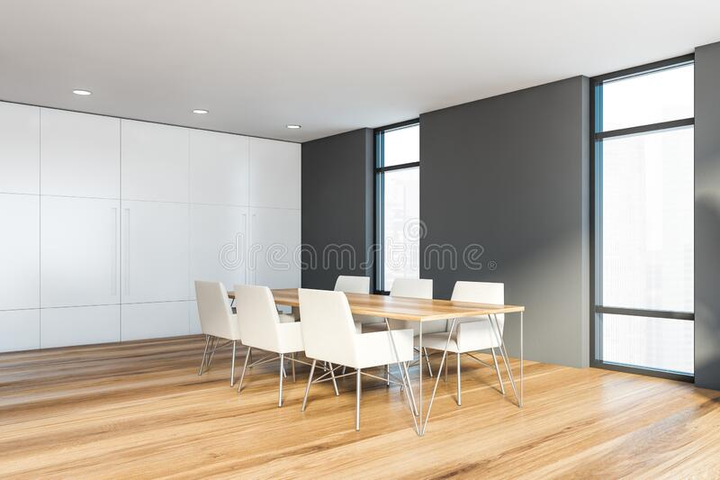 Gray And White Dining Room Corner Stock Illustration Illustration Of Background Decorate 177127643