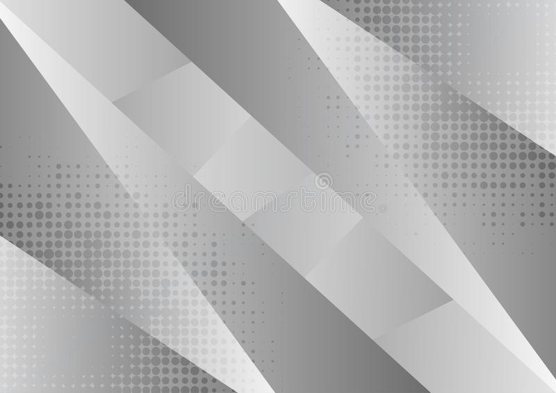 Gray and white geometric abstract background, Vector illustration with copy space royalty free illustration