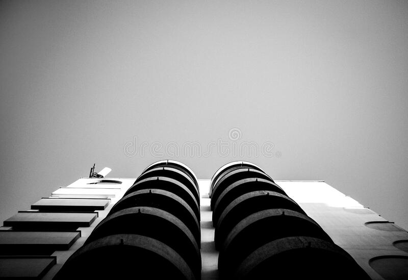 Gray and White High Rise Building royalty free stock photography