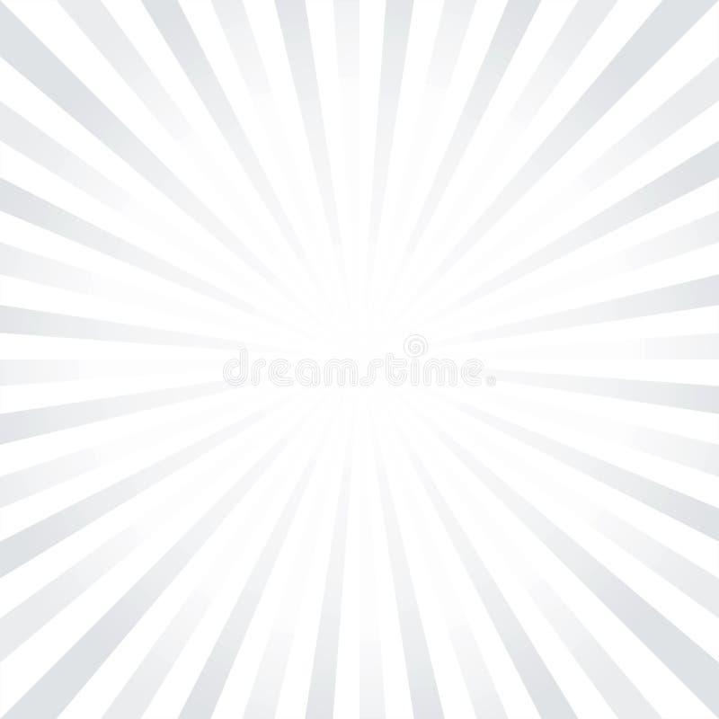 Gray White léger abstrait rayonne le fond Cmyk du vecteur ENV 10 illustration libre de droits