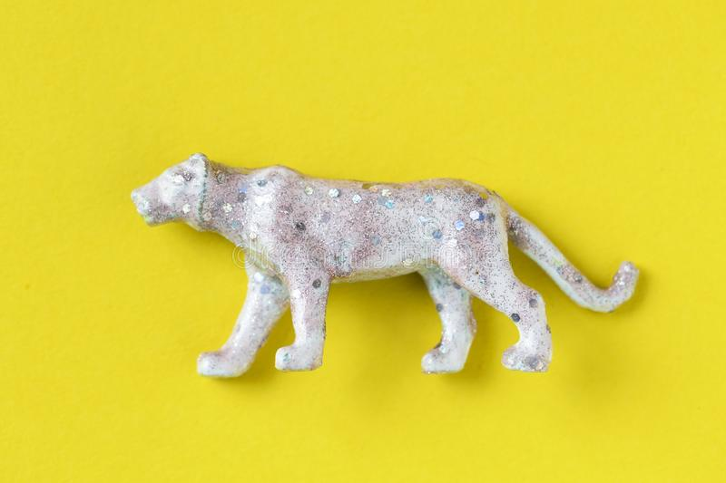 Gray and White 4-legged Animal Figurine royalty free stock photos