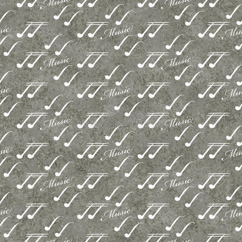 Gray and White Music Symbol Tile Pattern Repeat Background royalty free stock photos