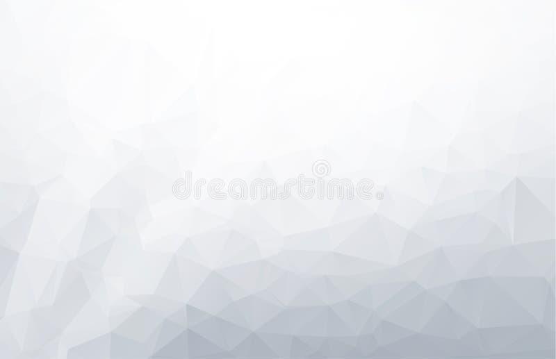 Gray White Polygonal Background abstrait, calibres créatifs de conception Fond polygonal blanc abstrait, calibre créatif de conce illustration libre de droits