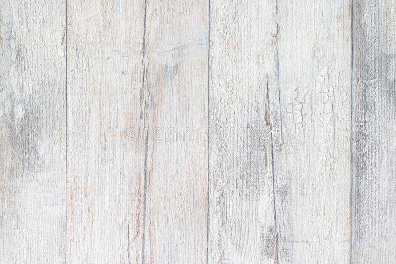 Gray white wooden texture. Closeup of light gray rustic wooden immitation background. Beautiful backdrop with artificial wood royalty free stock photos