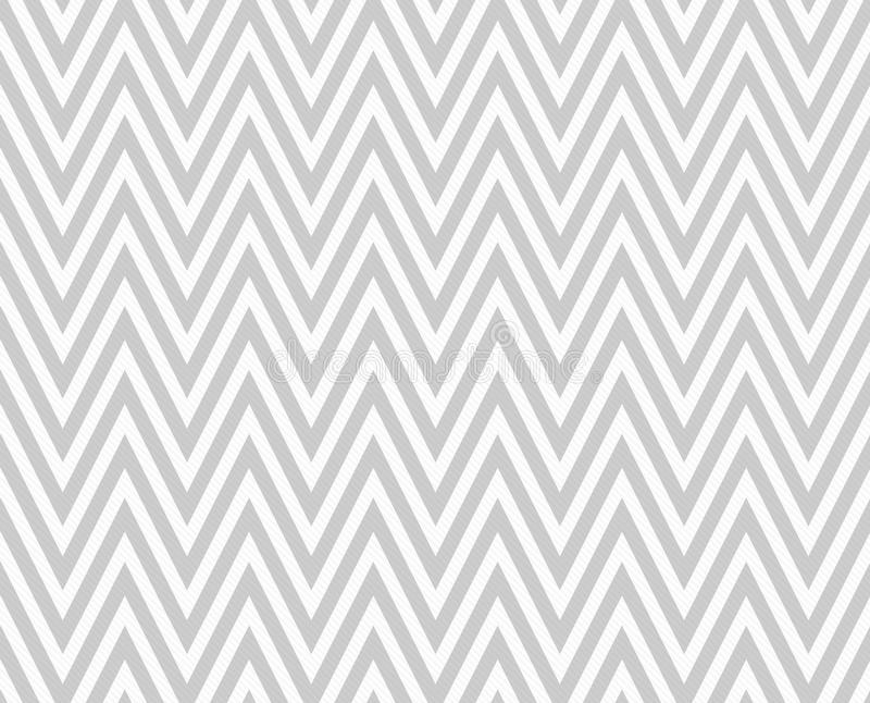 Gray and White Zigzag Textured Fabric Repeat Pattern Background royalty free illustration