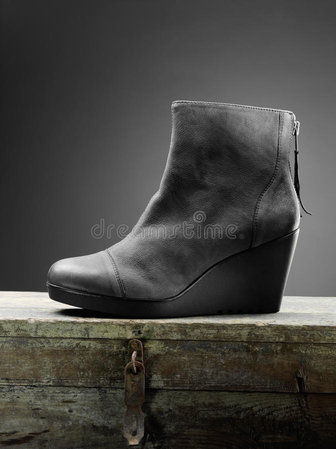 Gray woman boots stock image